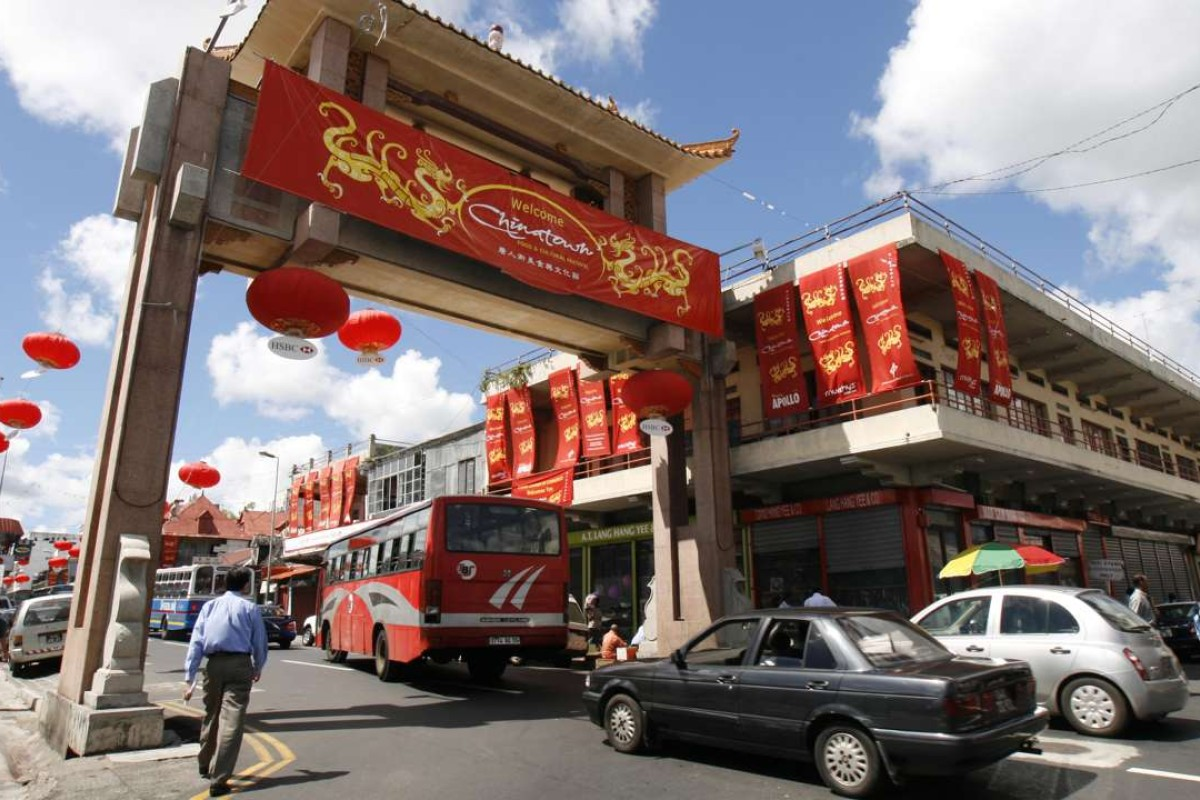 Chinatown in Port Louis, Mauritius.