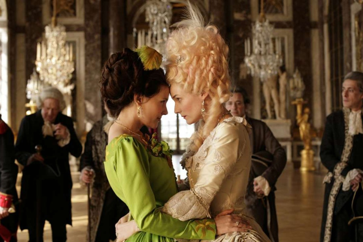 Diane Kruger (right) plays Marie Antoinette and Virginie Ledoyen her lover in Farewell, My Queen.