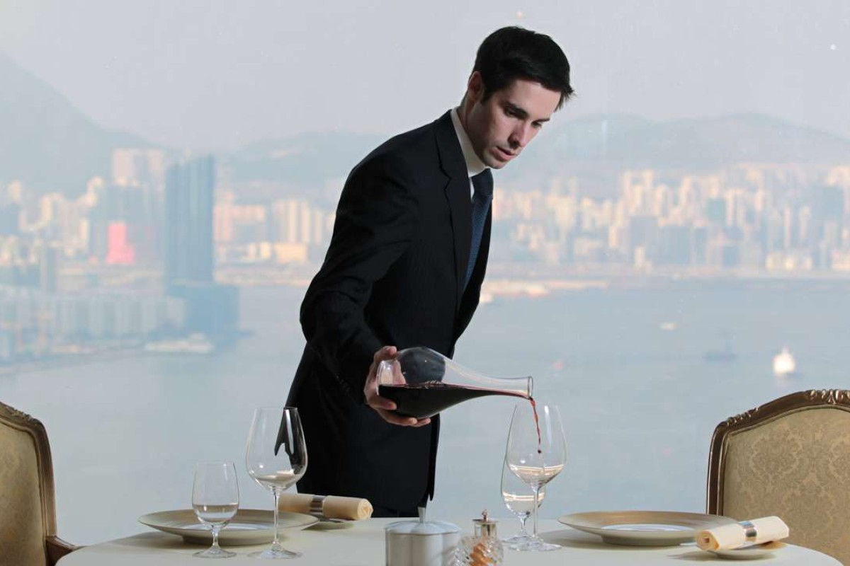 Master Sommelier Yohann Jousselin at work. Picture: SCMP