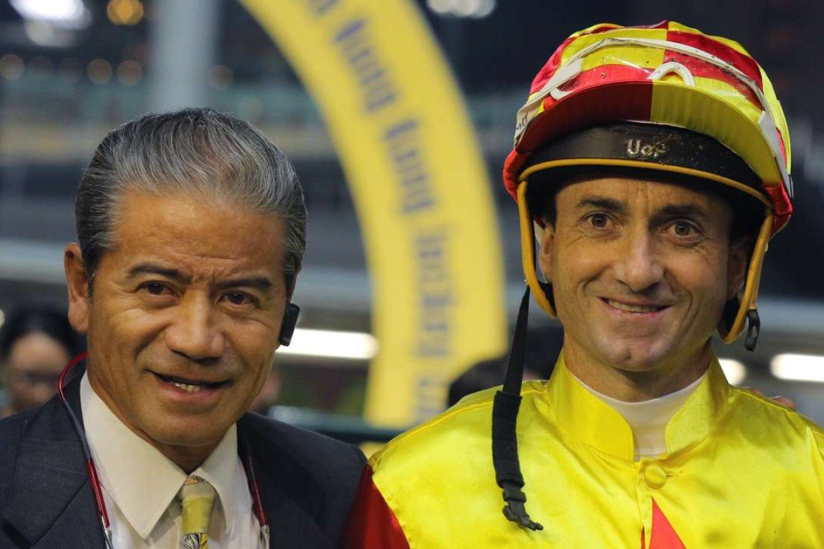 Tony Cruz and Douglas Whyte after Blazing Pass' win at Happy Valley. Photos: Kenneth Chan