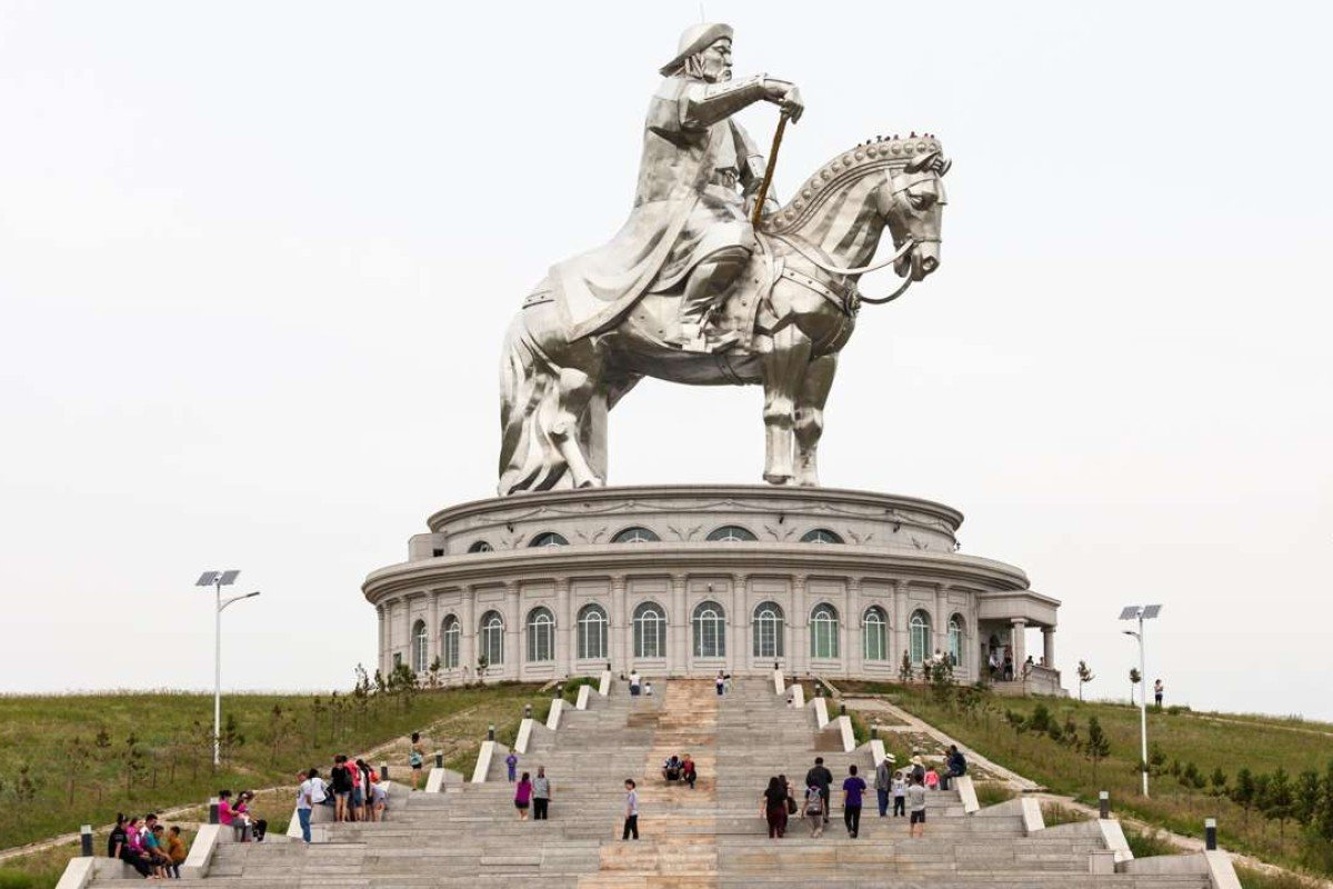 The Genghis Khan monument in Mongolia features the world's tallest equestrian statue. A lift takes visitors to the horse's head.