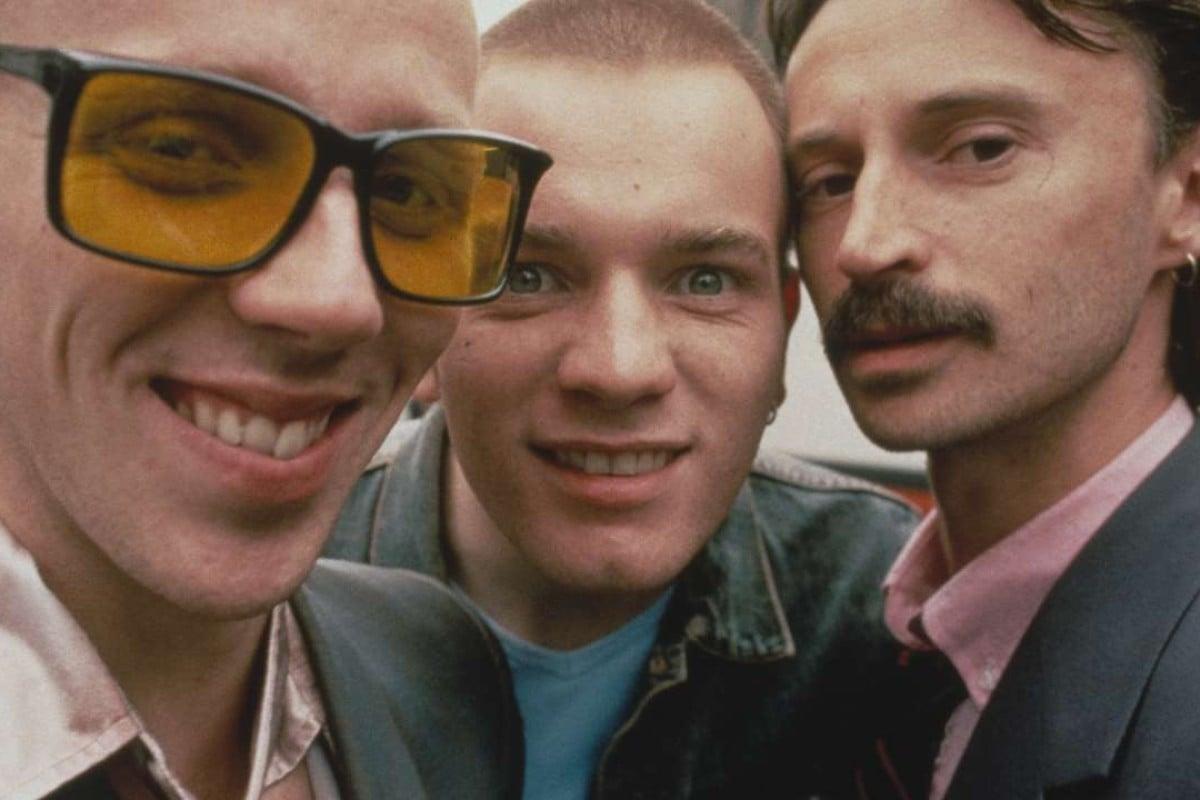From left: Spud (Ewen Bremner), Renton (Ewan McGregor) and Begbie (Robert Carlyle) in Trainspotting.