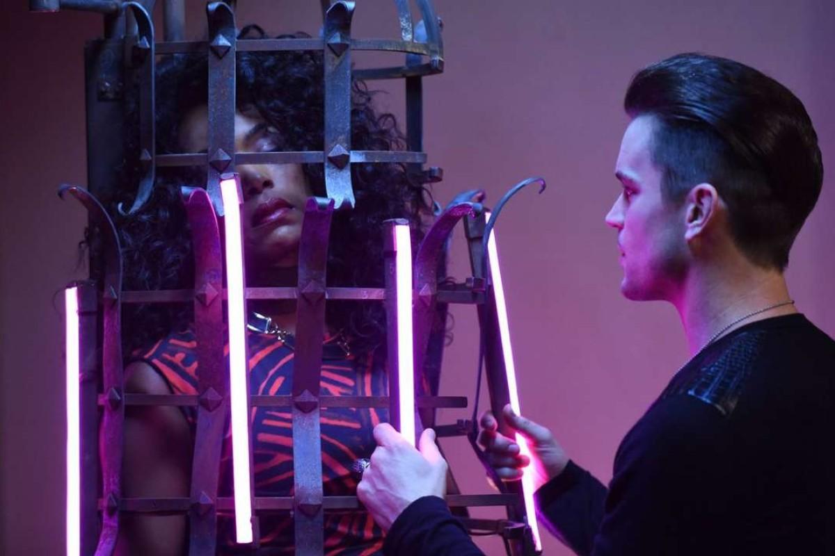 Angela Bassett and Matt Bomer in American Horror Story.