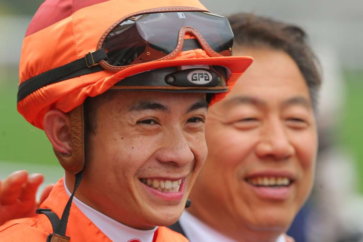 Derek Leung and Ricky Yiu are all smiles after Fantastic Eight's win. Photos: Kenneth Chan