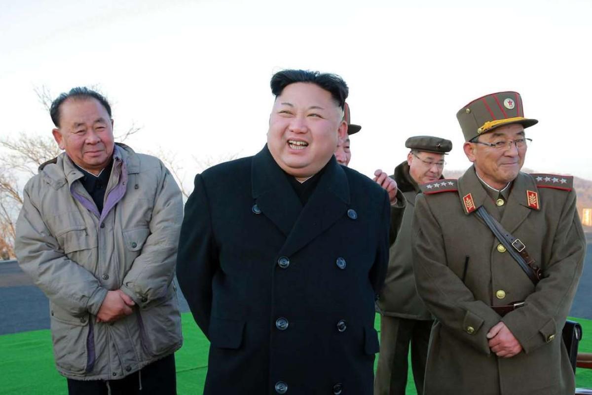 North Korean leader Kim Jong-un supervises the launch of four ballistic missiles on March 6. Photo: AFP