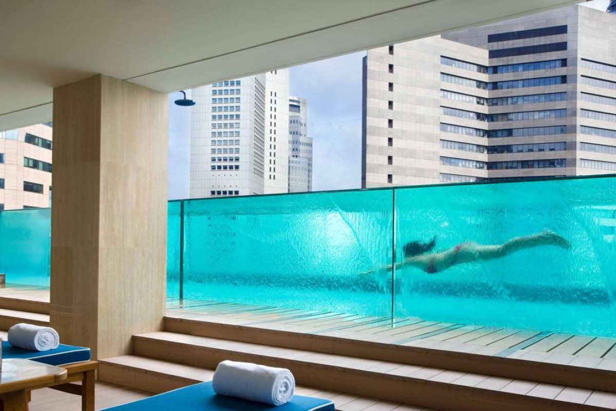 The pool at Ascott Raffles Place.