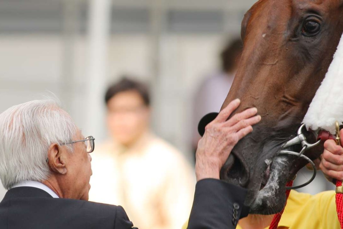 Cornel Li Fook-kwan gives his superstar horse, Able Friend, a pat after one of his many victories. Photos: Kenneth Chan
