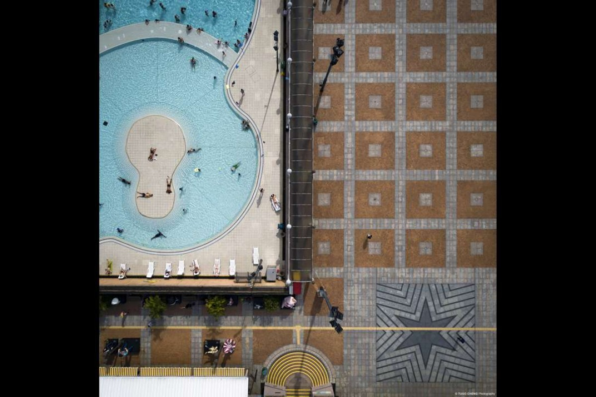 "Pool side from Tugo Cheng's ""City Patterns"" series."