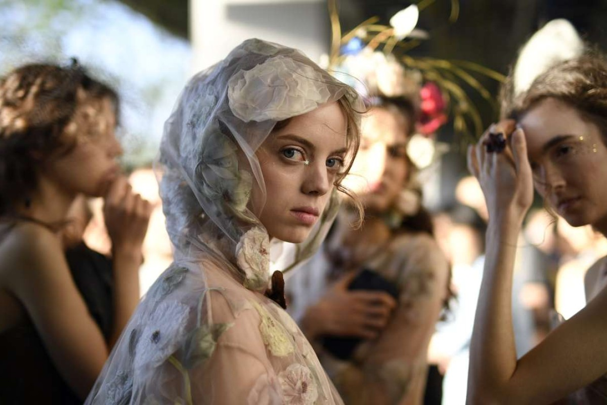 Backstage at Christian Dior's spring-summer 2017 haute couture show at Ginza Six. Photo: EPA/Franck Robichon