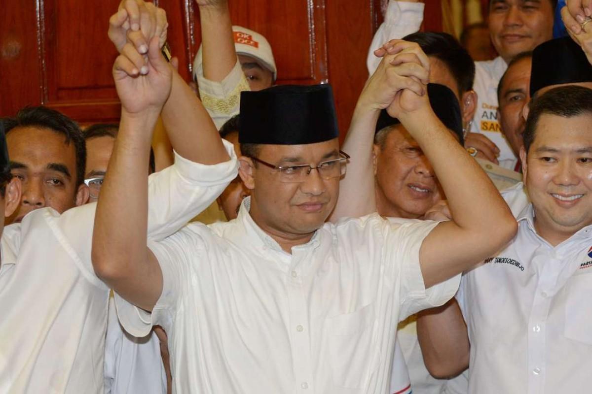 Anies Baswedan won the Jakarta election. Photo: AFP