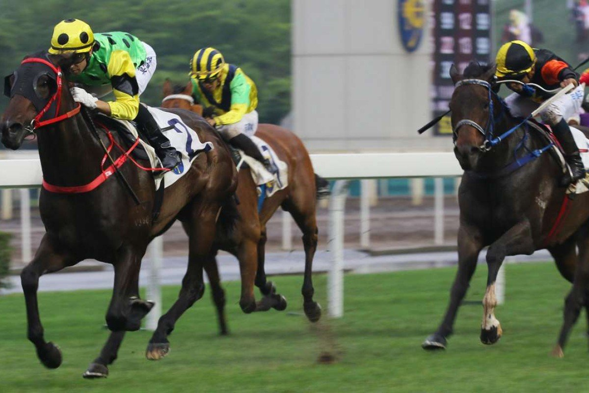 Joao Moreira and Nothingilikemore cruise away from their rivals at Sha Tin on Sunday. Photos: Kenneth Chan