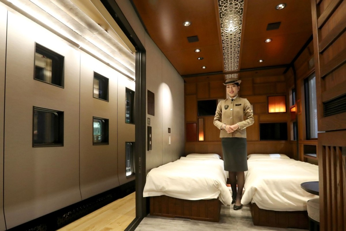A suite room of the Train Suite Shiki-Shima. Photo: AFP