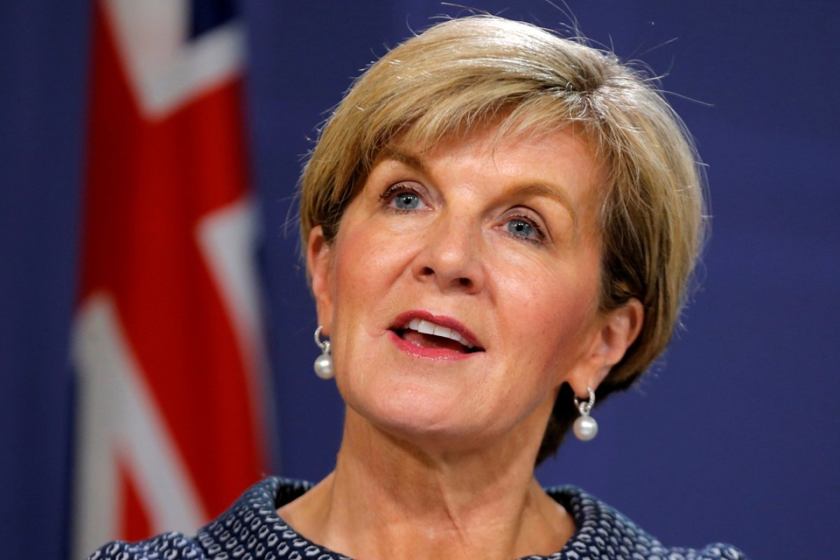 Australian Foreign Minister Julie Bishop was interrupted by a Chinese delegation at an intergovernmental meeting over the presence of representatives from Taiwan. Photo: Reuters
