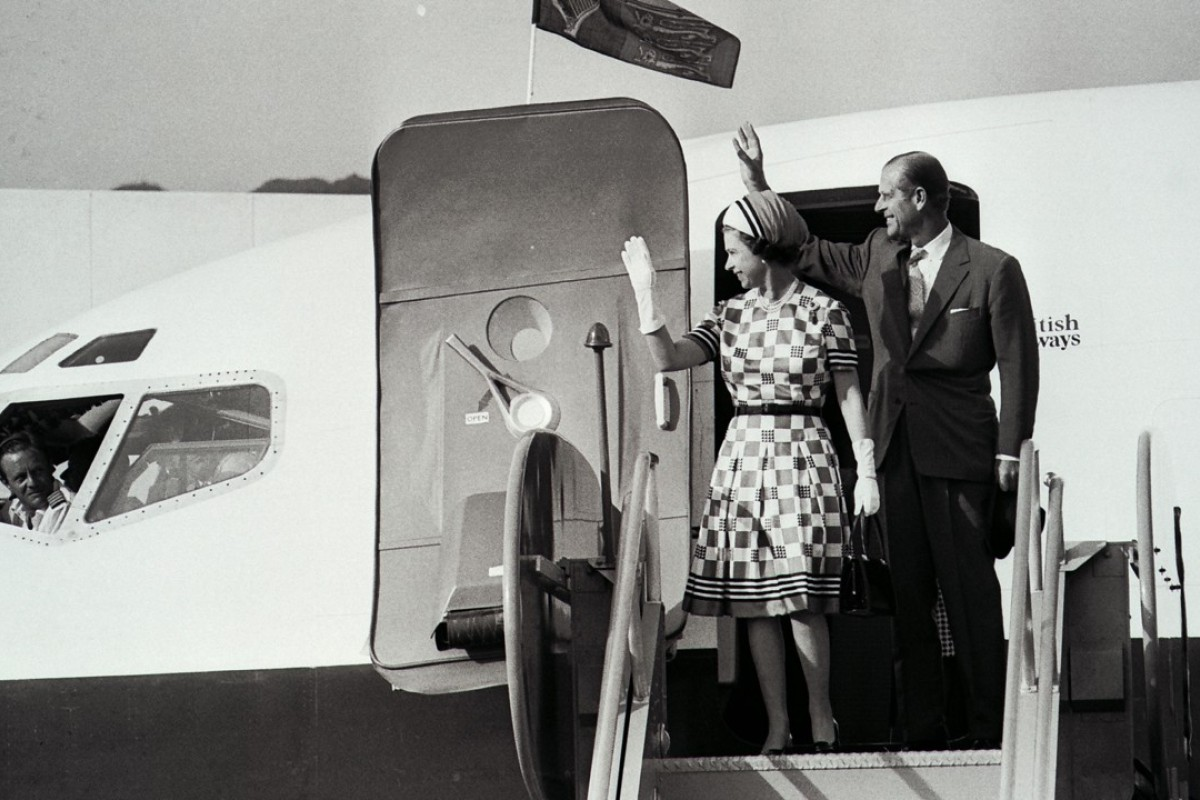 Queen Elizabeth and Prince Philip in Hong Kong. Picture: SCMP