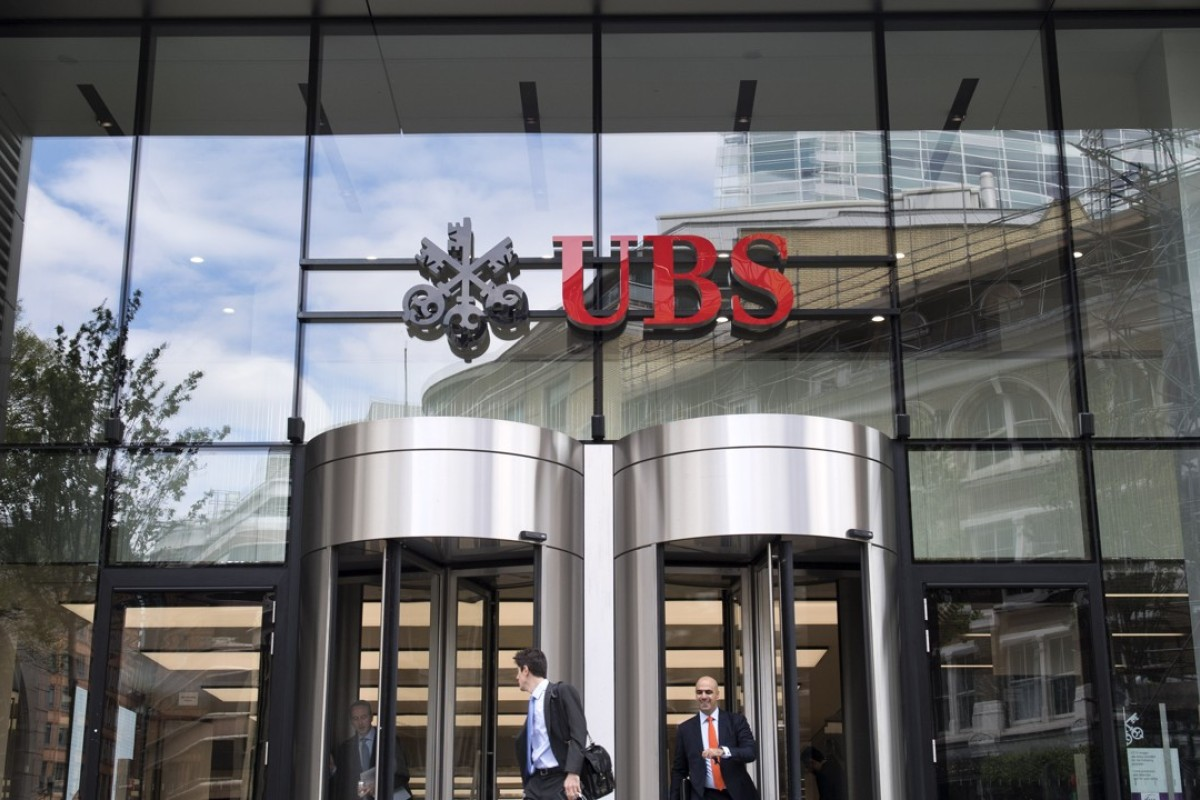 The London headquarters of Swiss bank UBS. Photo: AFP