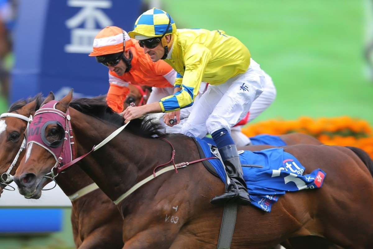 Werther edges out Blazing Speed in the Citi Hong Kong Gold Cup in February. Photos: Kenneth Chan