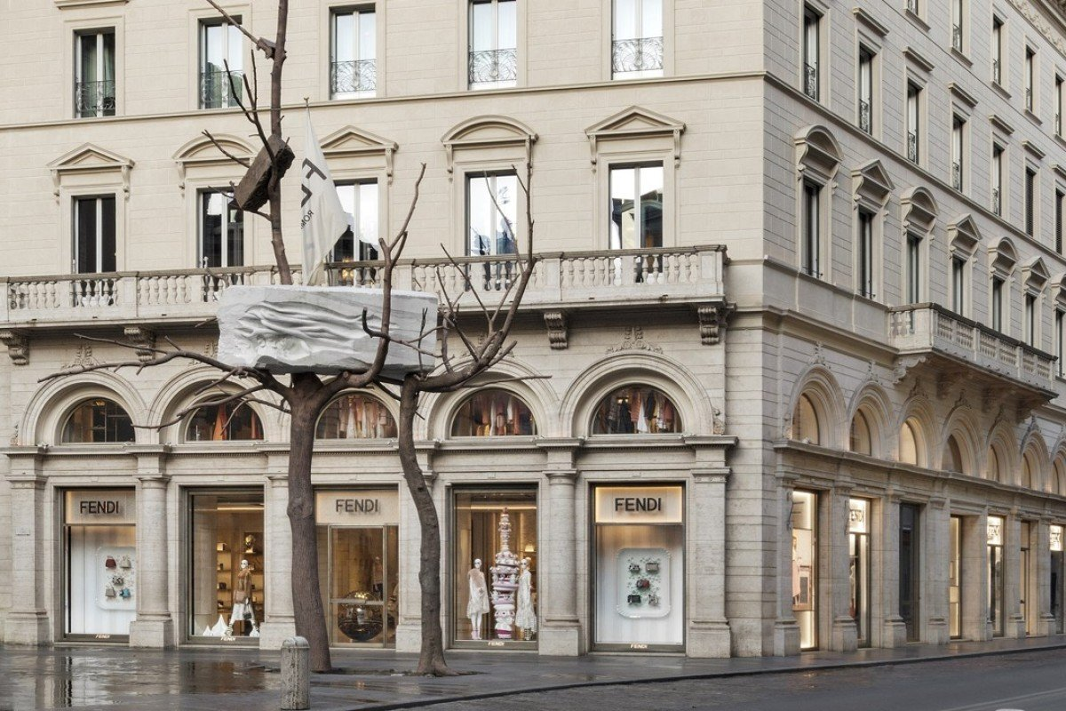 Fendi donates contemporary art installation by Giuseppe Penone to the city of Rome.