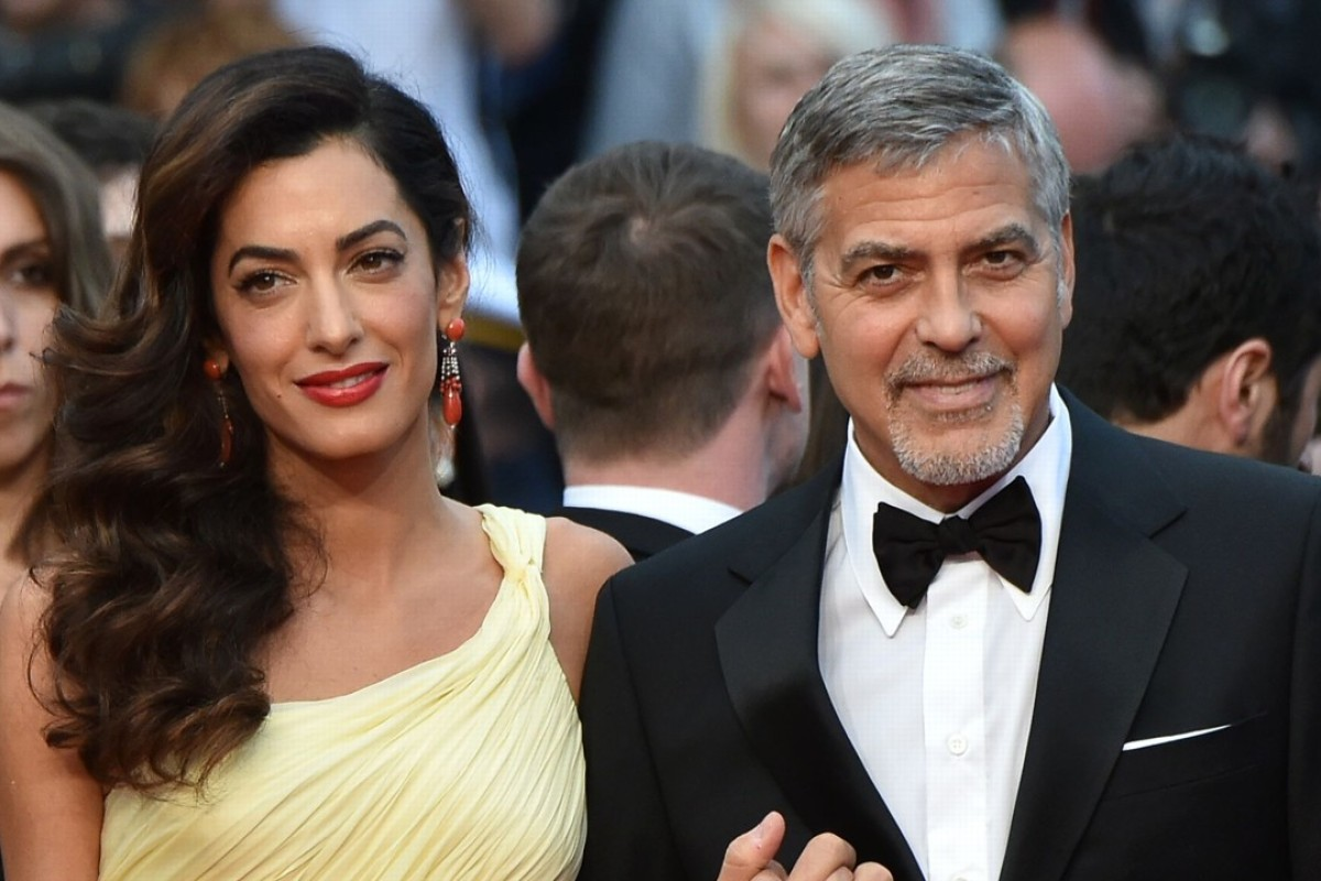 George Clooney and Amal Clooney at the 69th Cannes Film Festival in 2016. George and Amal Clooney welcomed their twin babies, Ella and Alexander, on June 6, 2017 in London, the actor's publicist Stan Rosenfeld said. The 39-year-old human rights lawyer and 56-year-old Hollywood star -- both first-time parents -- tied the knot in Venice in 2014. Photo: AFP