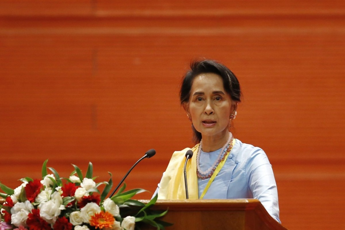 Aung San Suu Kyi has been silent on the plight of Myanmar's Rohingya Muslim minority. Photo: EPA