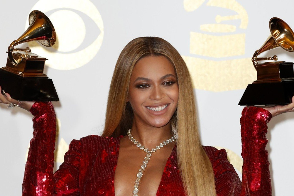 Beyonce at the 59th annual Grammy Awards ceremony. Photo: EPA