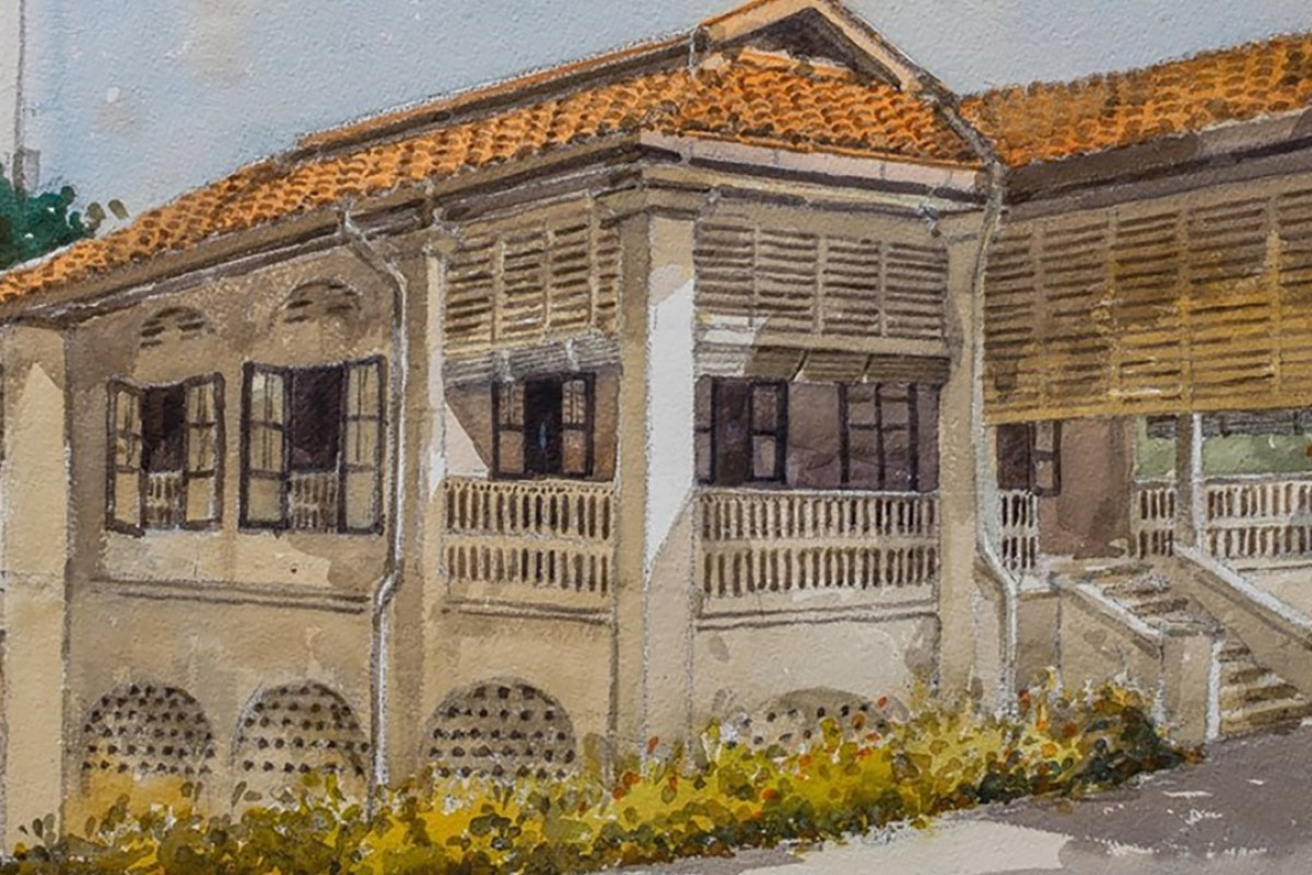 A portrait of the Lee family home by the Singaporean artist Ong Kim Seng, as shown on Lee Wei Ling's Facebook page. Image: Facebook