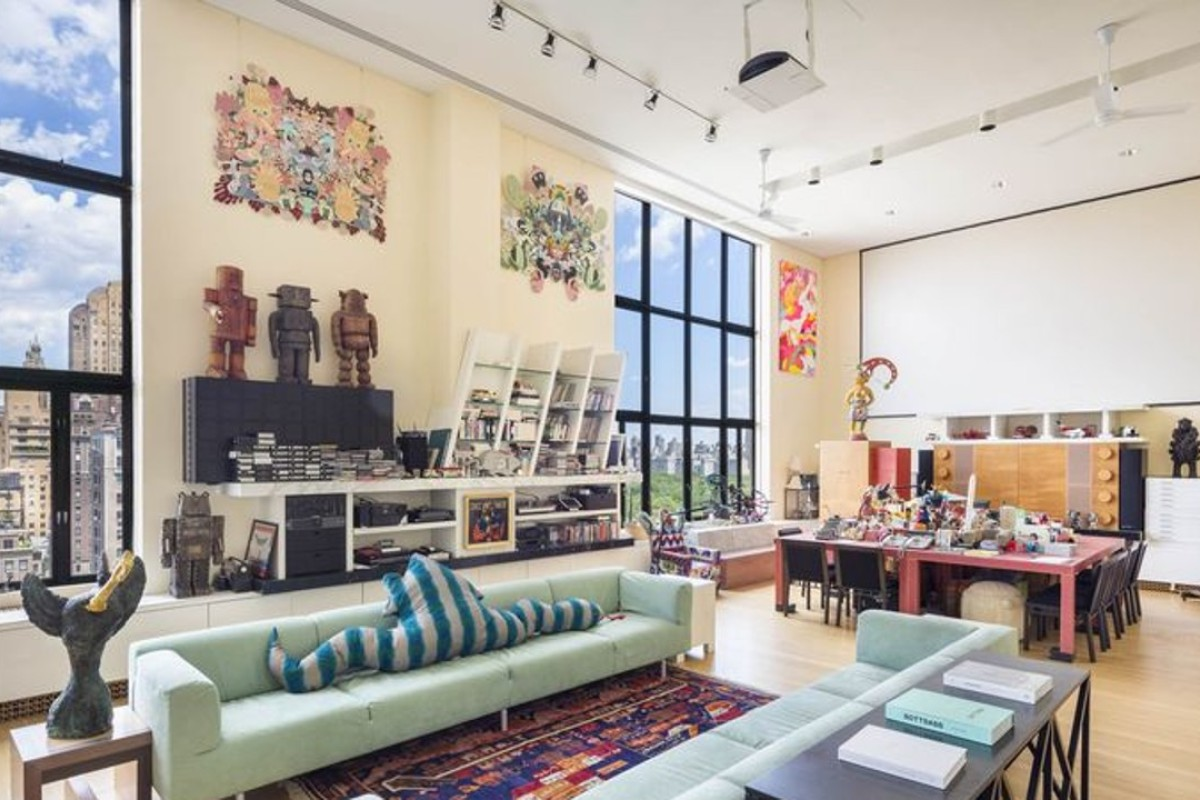 The New York triplex's living room alone is more than 1,100 square feet – and Mick Jagger and Michael Douglas have partied there
