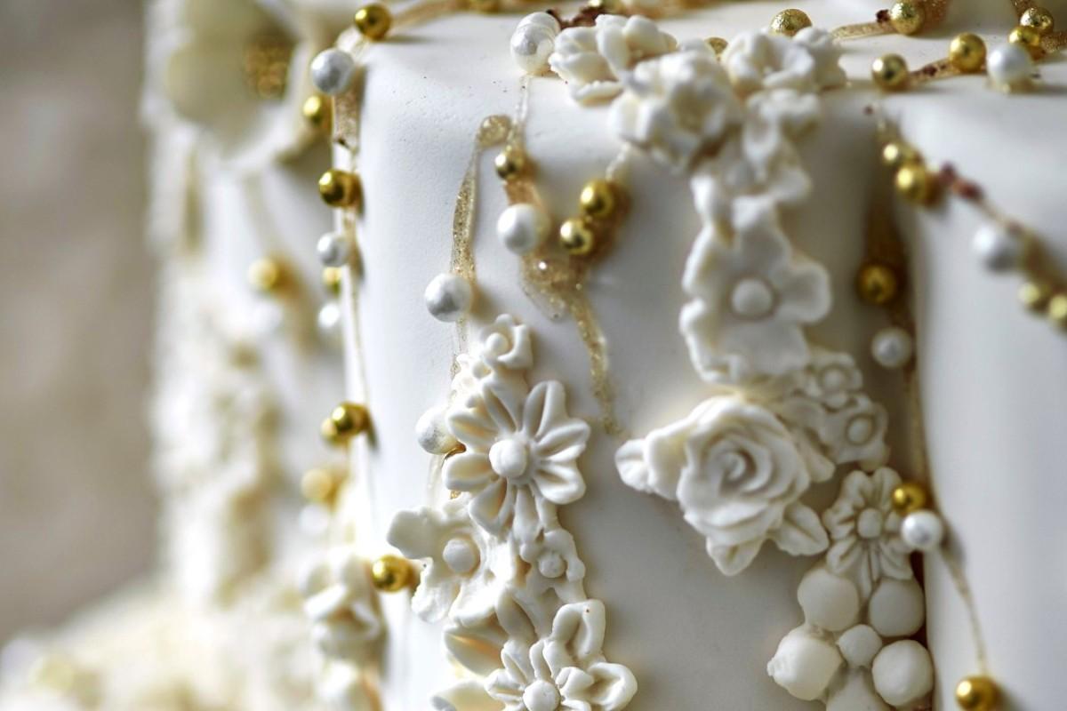 A lavish Sevva wedding cake