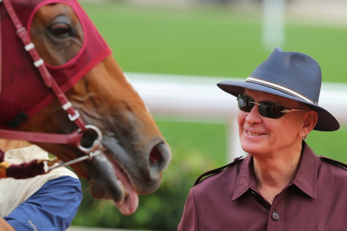 John Moore after Rapper Dragon won the Group Two Chairman's Trophy in April. Photos: Kenneth Chan.