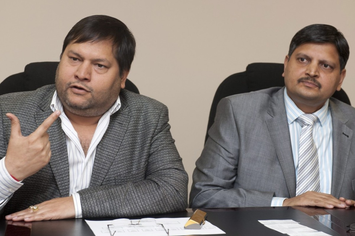 Indian businessmen Ajay Gupta, right, and younger brother Atul Gupta. Photo: Business Day
