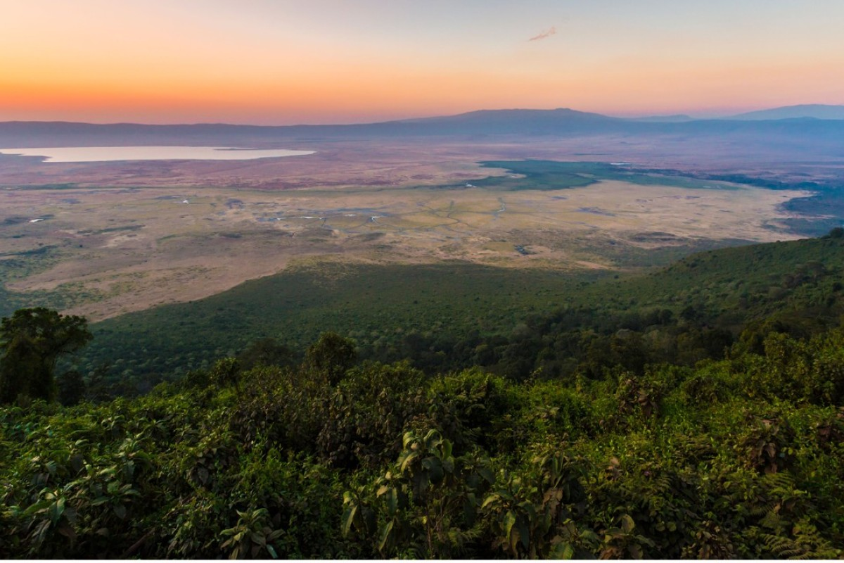 The Ngorongoro Crater rim, Tanzania. Picture: Alamy