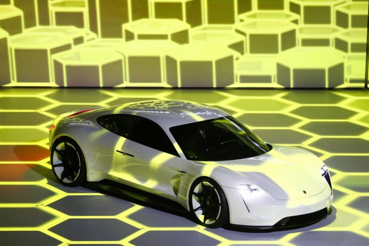 The Mission E will be Porsche's first all-electric production car. Photo: Reuters