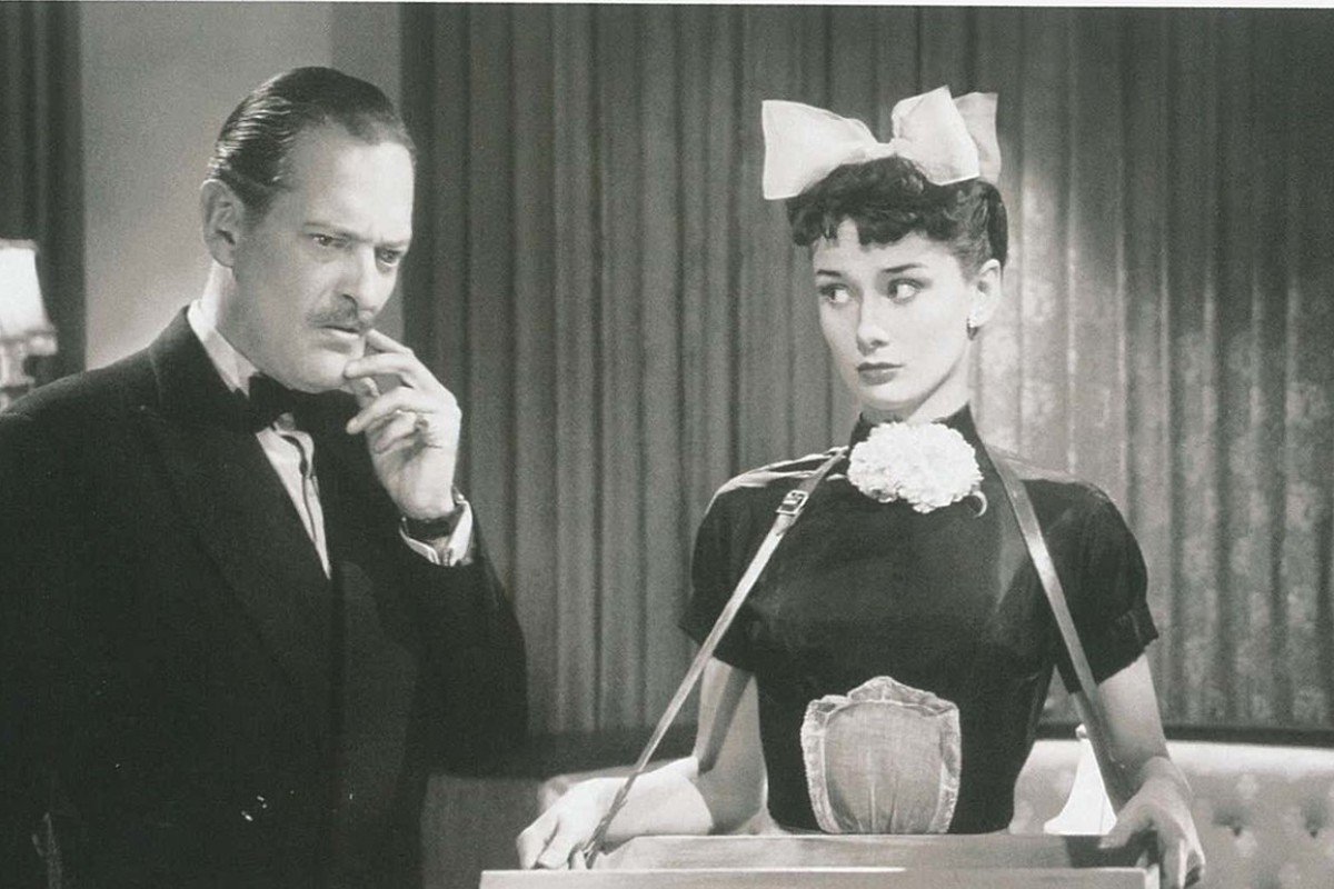 Hepburn as the cigarette girl in the British comedy 'Laughter in Paradise' in 'Audrey: The 50s'.