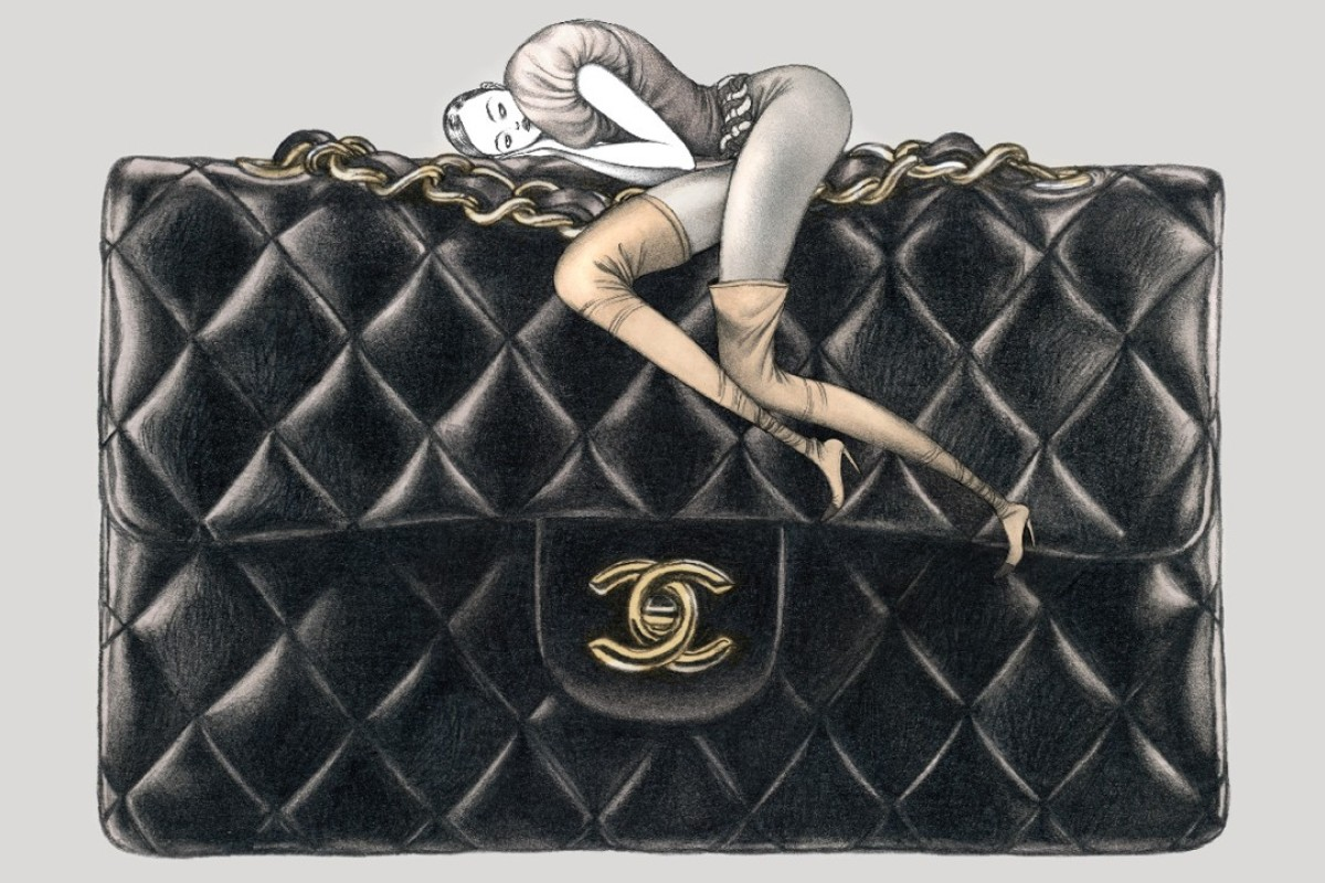 Iconic bags postcard illustrated by Laura Laine.
