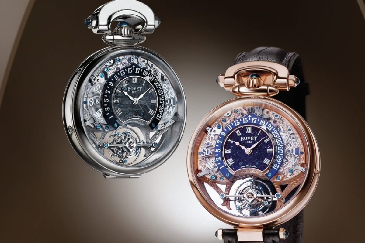 Bovet's new watches contain bits of meteorites or aventurine.