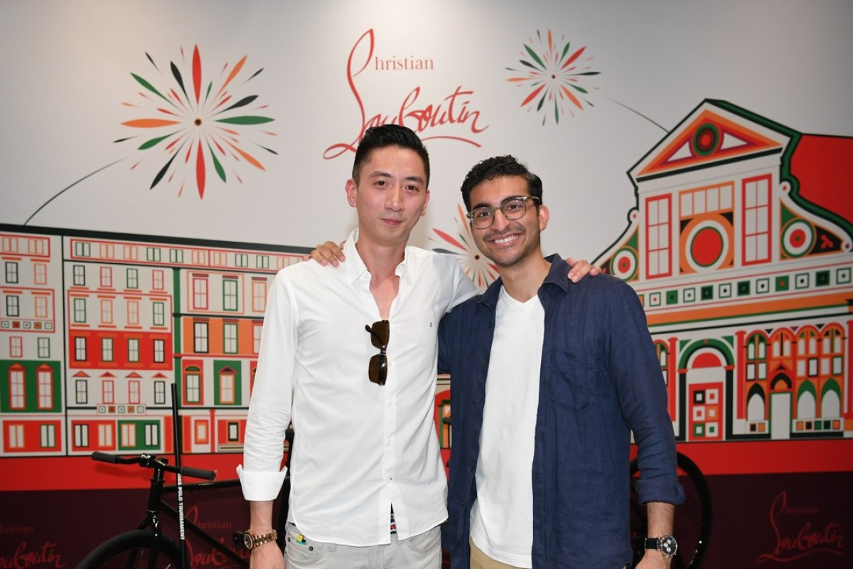Art Law and Roni Hiranand at Christian Louboutin's Aurelien sneaker launch