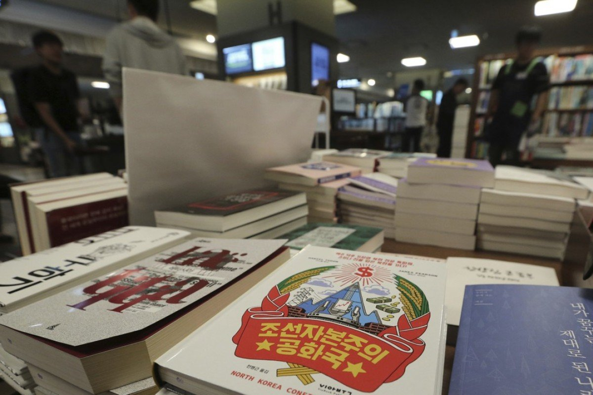 Copies of the Korean version of 'Capitalist People's Republic of Korea' at Kyobo Book Store in Seoul. Photo: AP Photo