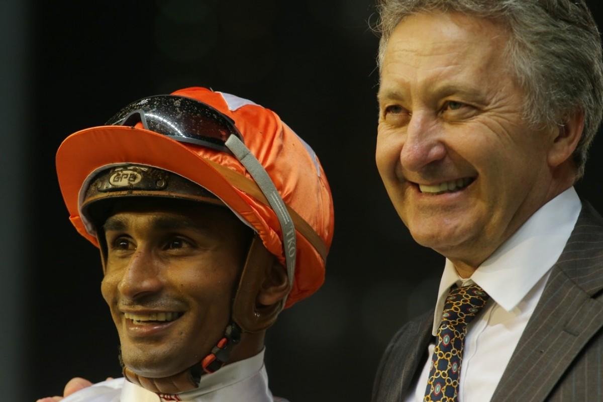 Karis Teetan and David Ferraris after Kiram's win in June. Photos: Kenneth Chan.