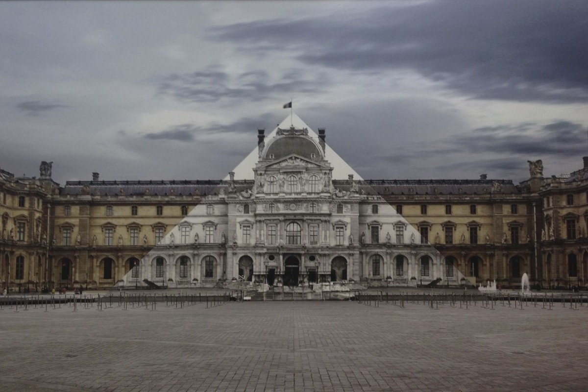 "French ""guerilla"" photographer JR's JR At the Louvre, La Pyramide, 17 June 2016, 9.13 (2016), from the collection of Jenny Wang Jinyuan, chairwoman of the Fosun Foundation. Picture: JR"