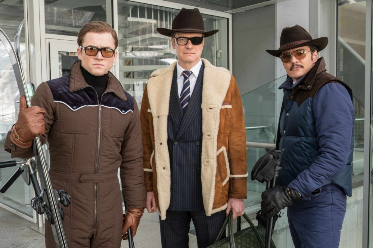 (From left) Taron Egerton, Colin Firth and Pedro Pascal in 'Kingsman: The Golden Circle'.