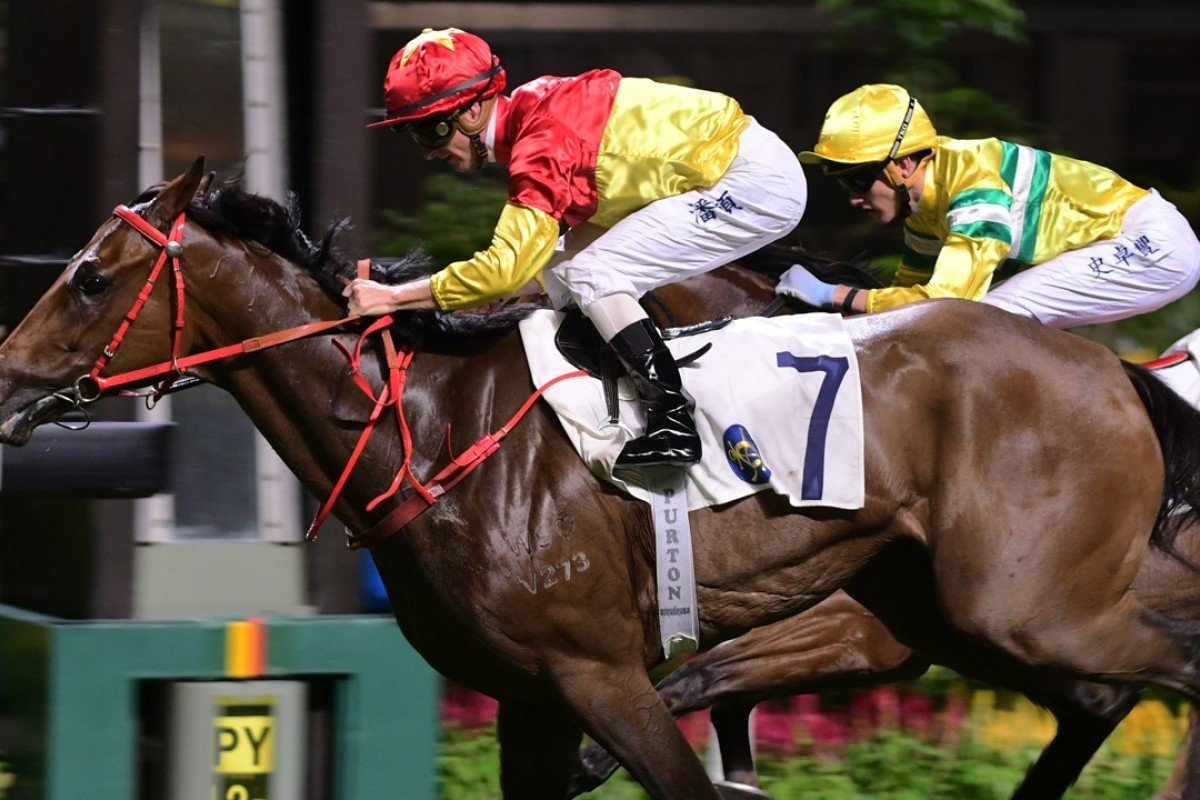 Zac Purton guides Starlight to victory at Happy Valley in July. Photos: Kenneth Chan