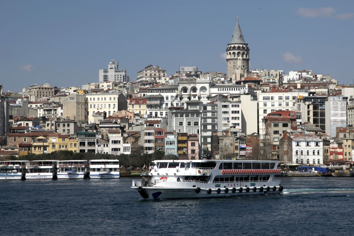 A ferry on the Bosphorus in Istanbul. Picture: Alamy