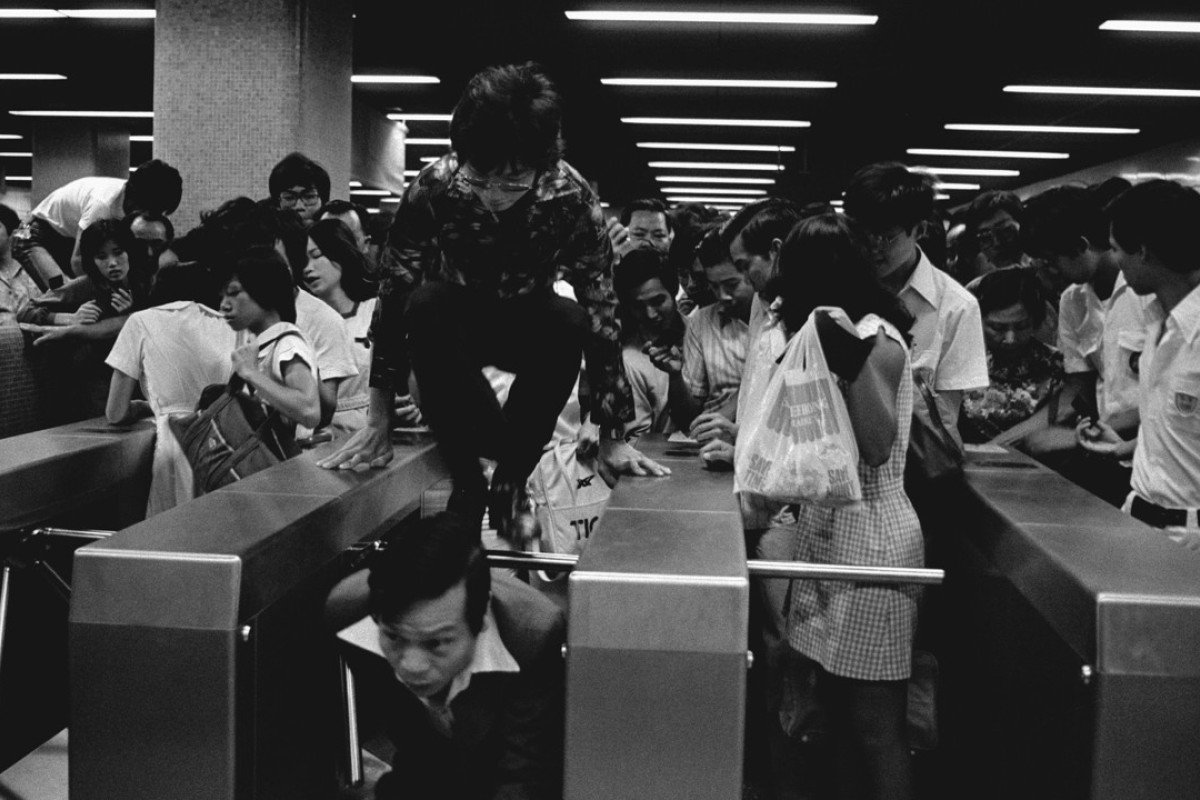 """Bedlam"" – the MTR's first day, October 1, 1979. Pictures: SCMP"