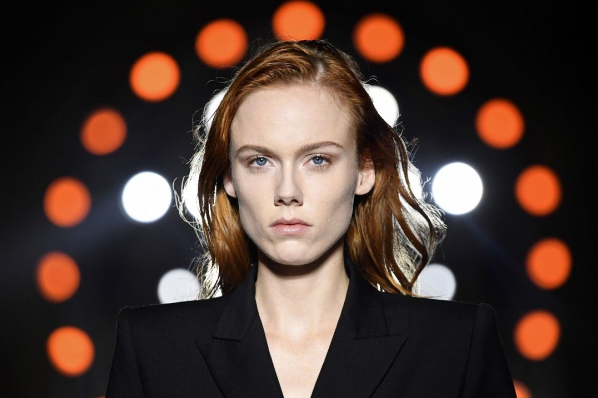 A model presents a creation by Givenchy, during the 2018 spring/summer ready-to-wear collection fashion show in Paris. Photo: AFP