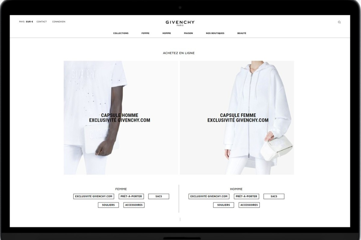 Givenchy has launched a new e-commerce website.