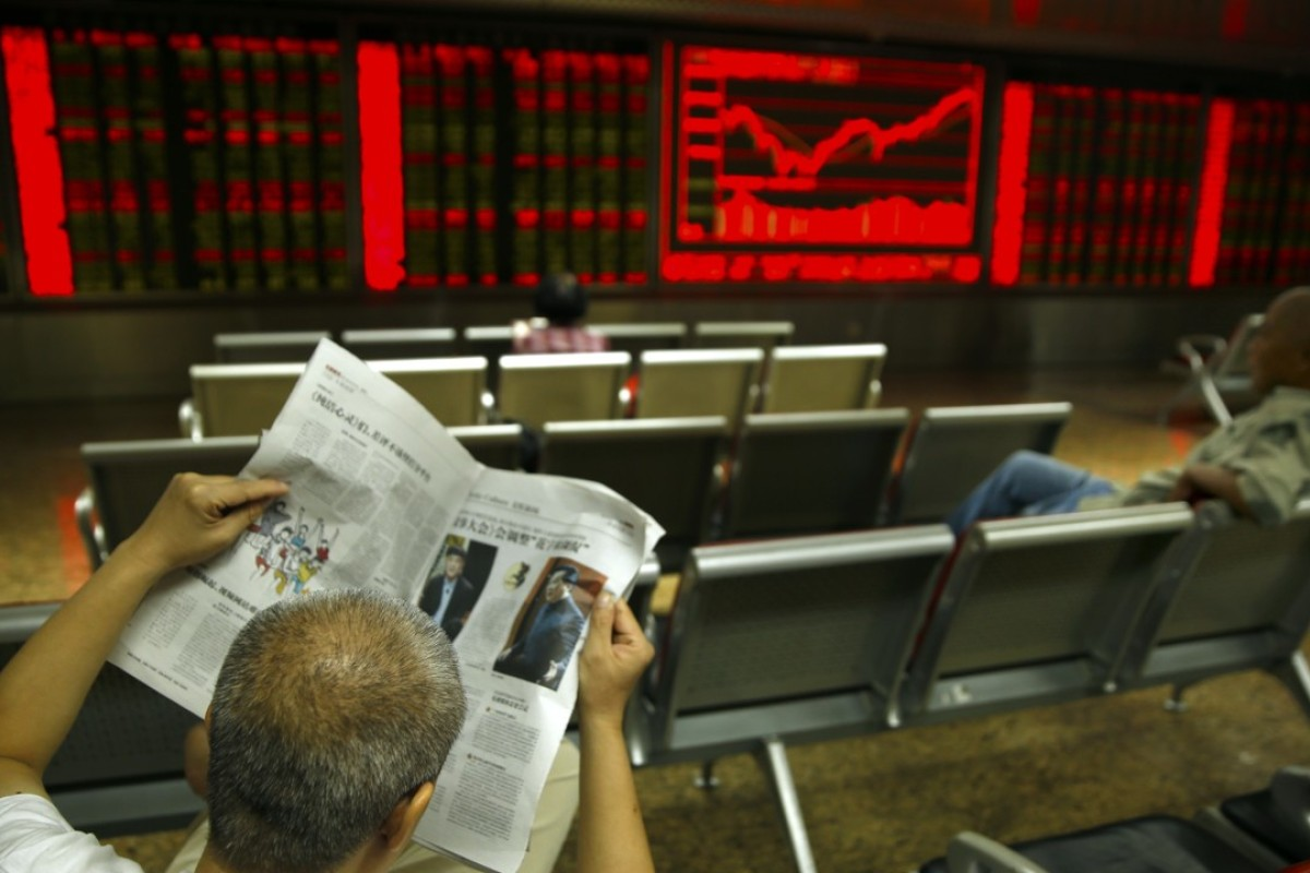 A Chinese investor at a brokerage house in Beijing. Photo: AP