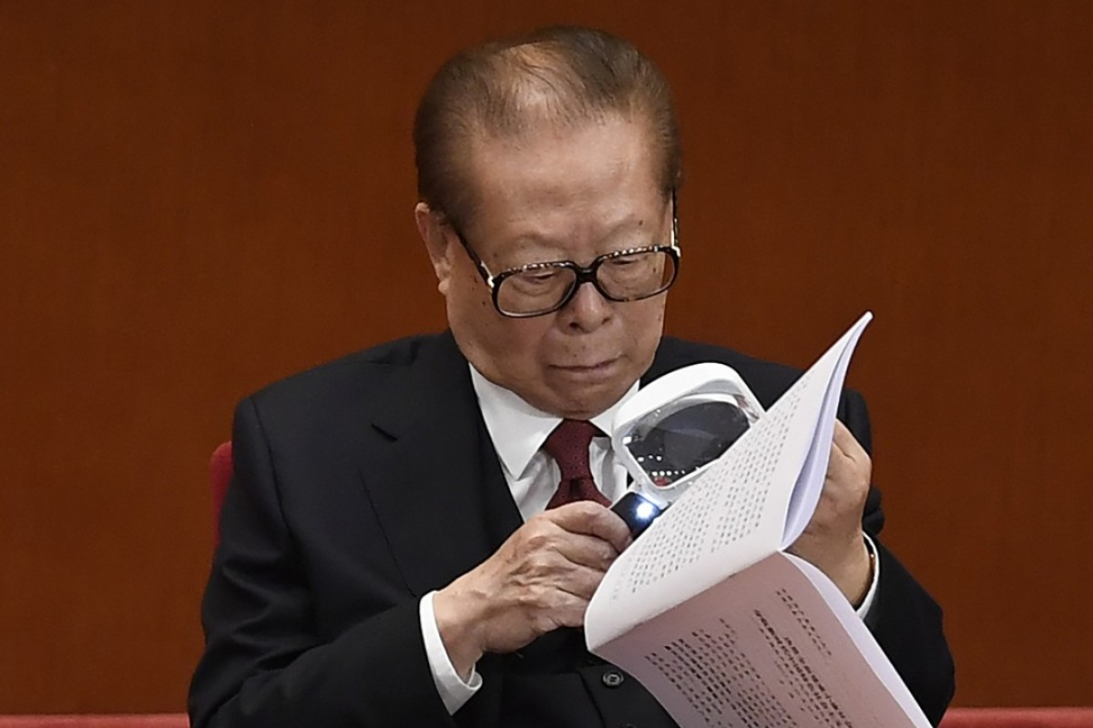 China's former president, Jiang Zemin, at the Communist Party congress in Beijing. Photo: AFP