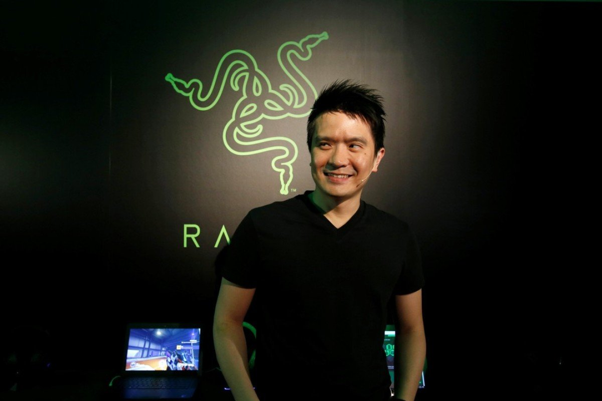 Tan Min Liang, co-founder and CEO of Razer, poses during a news conference ahead of the company's IPO in Hong Kong. Photo: REUTERS