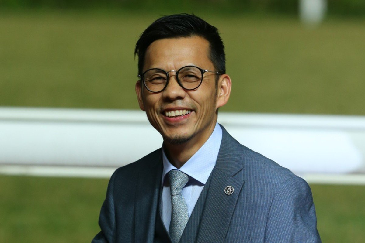 Trainer Frankie Lor is all smiles at Sha Tin on Wednesday night. Photos: Kenneth Chan