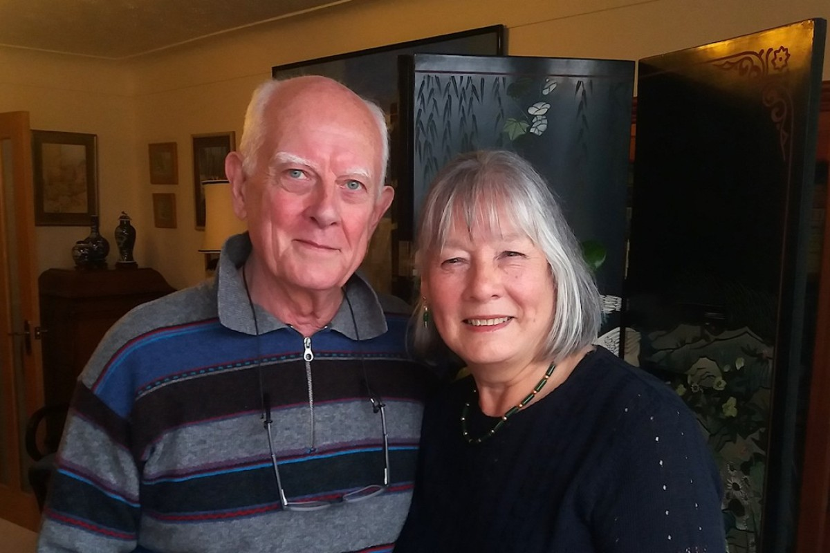 Charles and Yvonne Foley at their home in Chester, Britain. Picture: Stuart Heaver