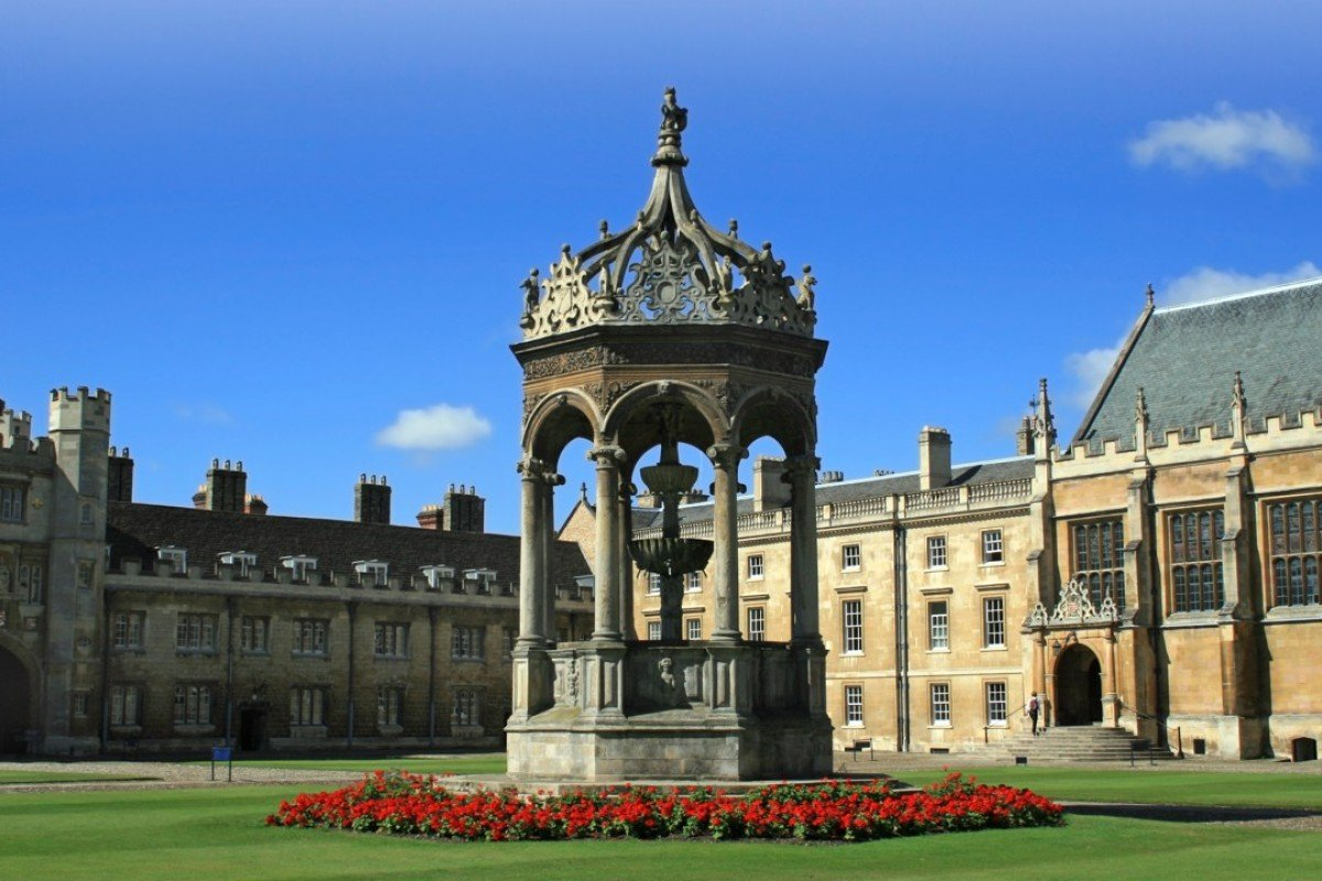 The courtyard of Trinity College, Cambridge University. Picture: Alamy